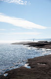 Phare du nord de rivage du lac Supérieur Images libres de droits