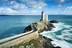 Phare du petit minou in Plouzane, Brittany, France. View of the Phare du petit minou in Plouzane, Brittany, France royalty free stock photography