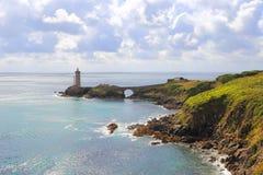 Phare du Petit Minou vu depuis la côte royalty free stock image
