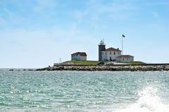 Phare du Rhode Island de côte de montre photo libre de droits