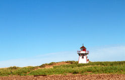 Phare en île Prince Edouard image libre de droits