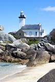 Phare en Bretagne, France Photos libres de droits