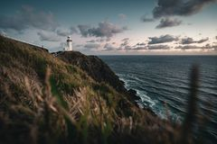 Phare en Byron Bay australie image libre de droits