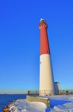 Phare en hiver Photo libre de droits