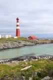 Phare en Norvège du nord, phare de Slettnes Photo libre de droits