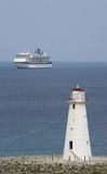 Phare et bateau image libre de droits