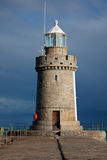 Phare gauche Guernesey de rue Peters Photographie stock