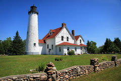 Phare Iroquois de point Images stock