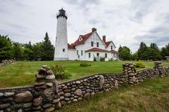 Phare iroquois de point au Michigan Photo libre de droits