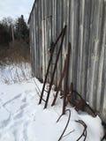 Phare jeté en hiver Photographie stock