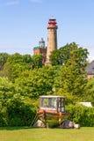 Phare Kap Arkona, Schinkelturm Images stock