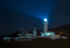 Phare la nuit Image stock