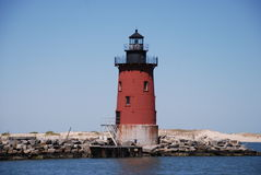 Phare Lewes Beach3 de brise-lames du Delaware Photo stock