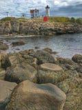 Phare Maine de protubérance Images libres de droits