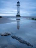 Phare par le rivage de nouveau Brighton, R-U Image stock
