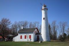 Phare - point d'esturgeon, Michigan Photographie stock libre de droits