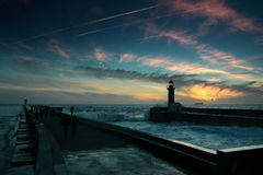 Phare, Porto Portugal Image stock