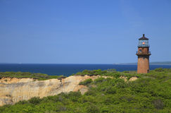 Phare principal gai, Martha's Vineyard Photographie stock libre de droits