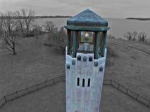 Phare pur d'île de belle du Michigan images libres de droits