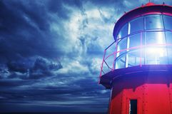 Phare rouge Photo stock