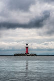 Phare rouge Photographie stock