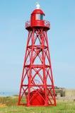 Phare rouge en acier photographie stock libre de droits