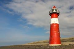 Phare rouge et blanc - Westkapelle Photographie stock libre de droits