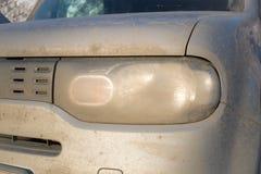 Phare sale de voiture Image stock