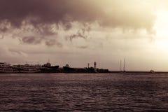Phare sombre de Yalta Images libres de droits