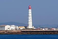 Phare sur Ilha De Culatra Portugal photos stock