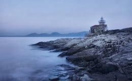 Phare sur l'île de Hvar dans Sucuraj Photo stock