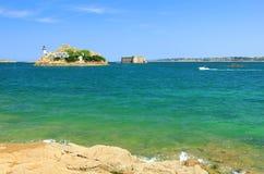 Phare sur l'Ile Louet, France Image libre de droits