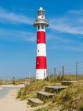 Phare sur la côte de la Mer du Nord photographie stock libre de droits