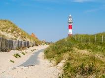 Phare sur la côte de la Mer du Nord Photo libre de droits