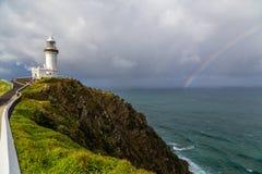 Phare sur un pilier dans l'Australie Photographie stock libre de droits