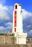 Phare traditionnel de St. Jean de Luz, France Photo stock