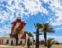 Phare vert Cape Town de point image libre de droits