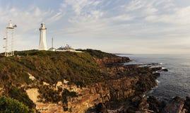 Phare vert de cap, Nouvelle-Galles du Sud Photographie stock