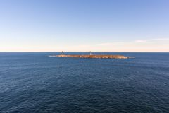 Phares d'île de Thacher, cap Ann, le Massachusetts photo libre de droits
