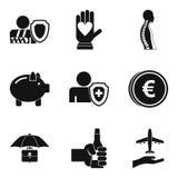 Pharma case icons set, simple style Royalty Free Stock Photo