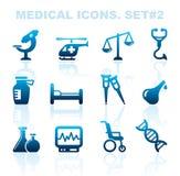 Pharma and Healthcare icons Royalty Free Stock Photos