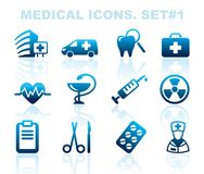 Pharma and Healthcare icons Royalty Free Stock Photography