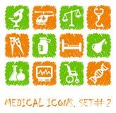 Pharma and Healthcare icons Stock Photos