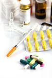 Pharmaceutical assortment Royalty Free Stock Photos