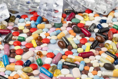 Free Pharmaceutical Background Of Colorful Pills And Drugs Stock Image - 72970781
