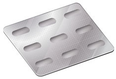A pharmaceutical blister pack Royalty Free Stock Photography