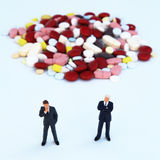 Pharmaceutical business. Big business and big profits in the pharmaceutical business Stock Photo