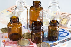 Pharmaceutical business. Make business with pharmaceutical products Stock Image