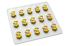 Pharmaceutical Business - Dollar. 3D Pharmaceutical Business (Dollar) - Isolated on White (or Transparent) Background Royalty Free Stock Images