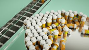 Pharmaceutical business manufacturing pills and drugs Stock Images